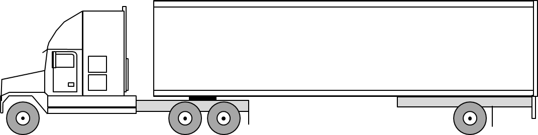 3 Axle Tractor Trailer Axle Weight Limits : Semi truck weight and dimensions axle trailer