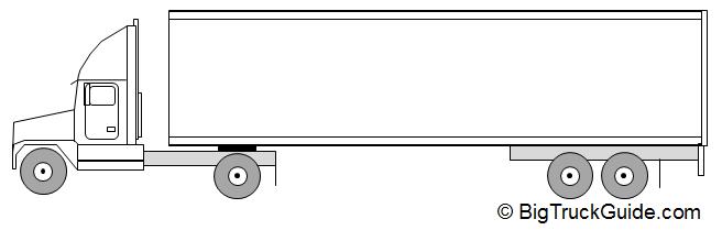 Semi Truck Weight : Axle semi truck trailer single drive big guide